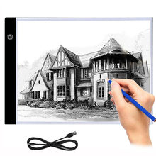 LED Lighted Drawing Board Ultra A4 Drawing Table Tablet Light Pad Sketch Book Blank Canvas For Painting Acrylic Paint(China)