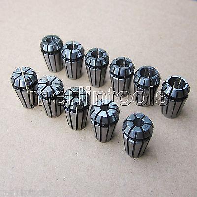 11PCs Precision ER11 Spring Collet Set 2 2.5 3 3.5 4 4.5 5 5.5 6 6.5 7mm er16 precision spring collet for cnc milling lathe tool 1 5 2 5 3 5 4 5 5 5 6 5 7 5 8 5 9 5 10 5 3 175 6 35 mm