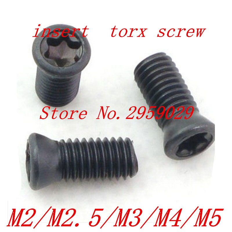 100pcs M2/M2.5/M3/M4/M5 CNC Insert Torx Screw for Replaces Carbide Inserts CNC Lathe Tool akg pae5 m