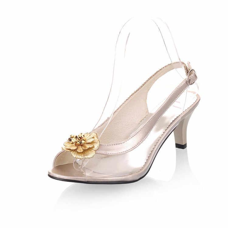 Büyük Boy 34-46 bayan ayakkabı kadın Sandalet zapatos mujer kadınlar chaussure femme sapato feminino düğün tacon sevgililer D23