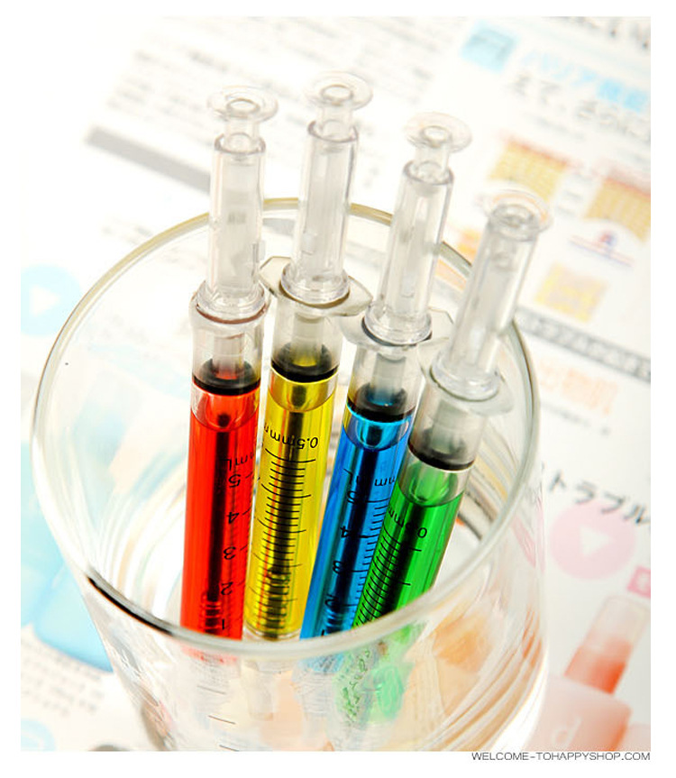 1Pcs New Doctor Nurse Gift Liquid Syringe Injection Ballpoint Pen Ballpen Stationery Office School Supplies Children Gift