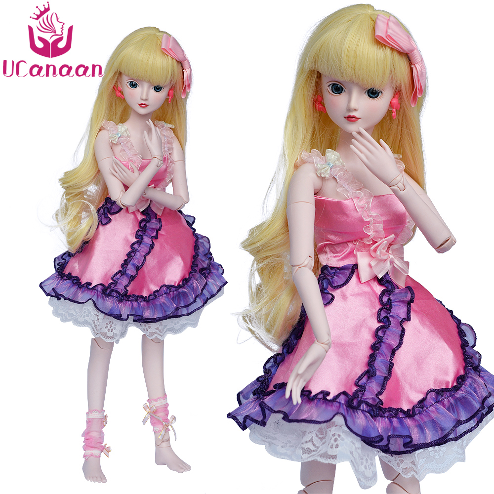 Ucanaan 1/3 BJD SD Doll Beauty Princess Toys With Outfit Makeup 19 Ball Jonits Model Body Girls Dolls