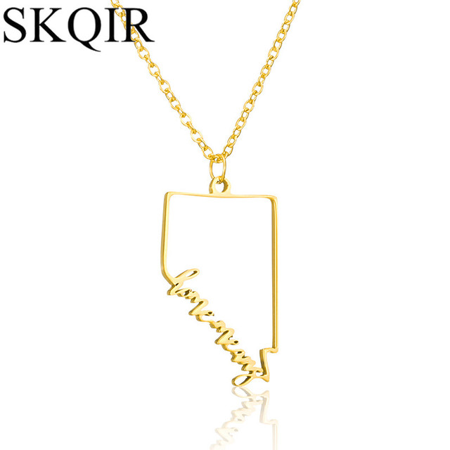 Skqir mens nevada state necklaces pendants link chain stainless skqir mens nevada state necklaces pendants link chain stainless steel necklace statement jewelry for women aloadofball Gallery