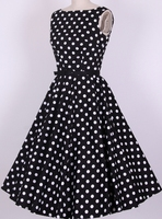 In Stock S 6XL Cocktail Party Dress Cotton Black White Red Polka Dot 4xl Xxxl Birde