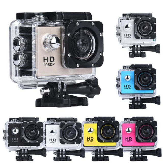 New portable Mini Camera 1080P HD Cam Waterproof 30M Sport DV Camcorder Black / White / Silver / Yellow / Gold / Blue/ Pink