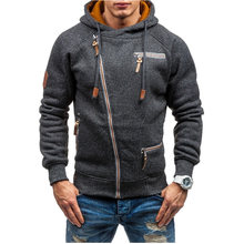 Hoodies Männer Sudaderas Hombre Hip Hop Herren Marke Nähte Hoodie Sweatshirt Slim Fit Schrägen Zipper Strickjacke Männer Hoody 3XL XXXL(China)