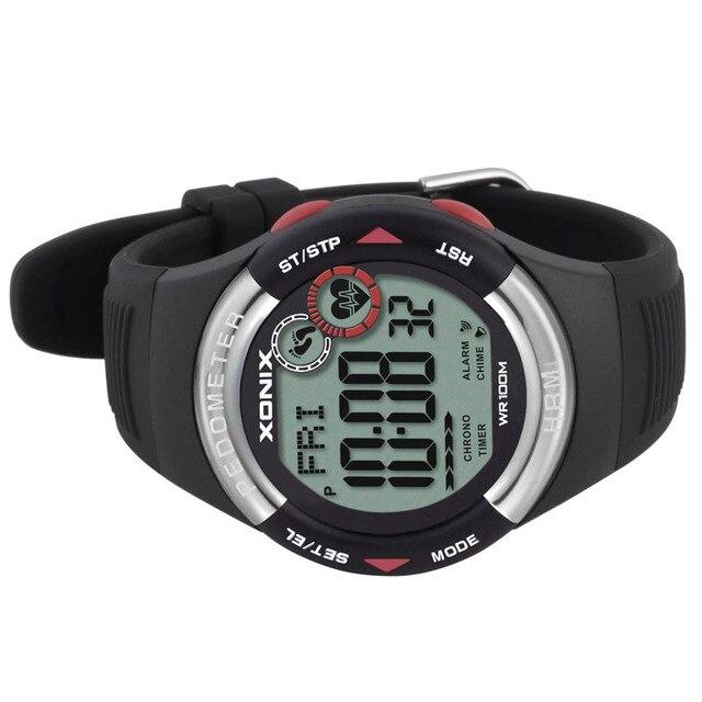 Hot!! Pedometer Heart Rate Monitor Calories BMI Men Sports Watches Waterproof 100m Women Digital Watch Running Diving Wristwatch 4