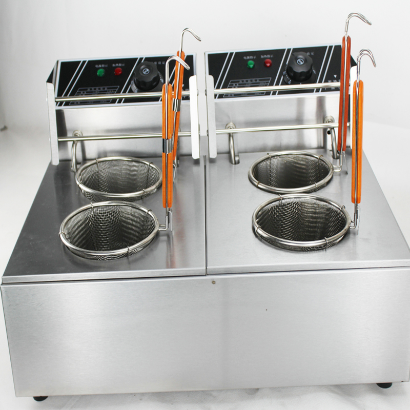 Free shipping two tank two Baskets Stainless Steel electric Italy Pasta Noodle Cooker Bench top elecric Noodle CookerFree shipping two tank two Baskets Stainless Steel electric Italy Pasta Noodle Cooker Bench top elecric Noodle Cooker