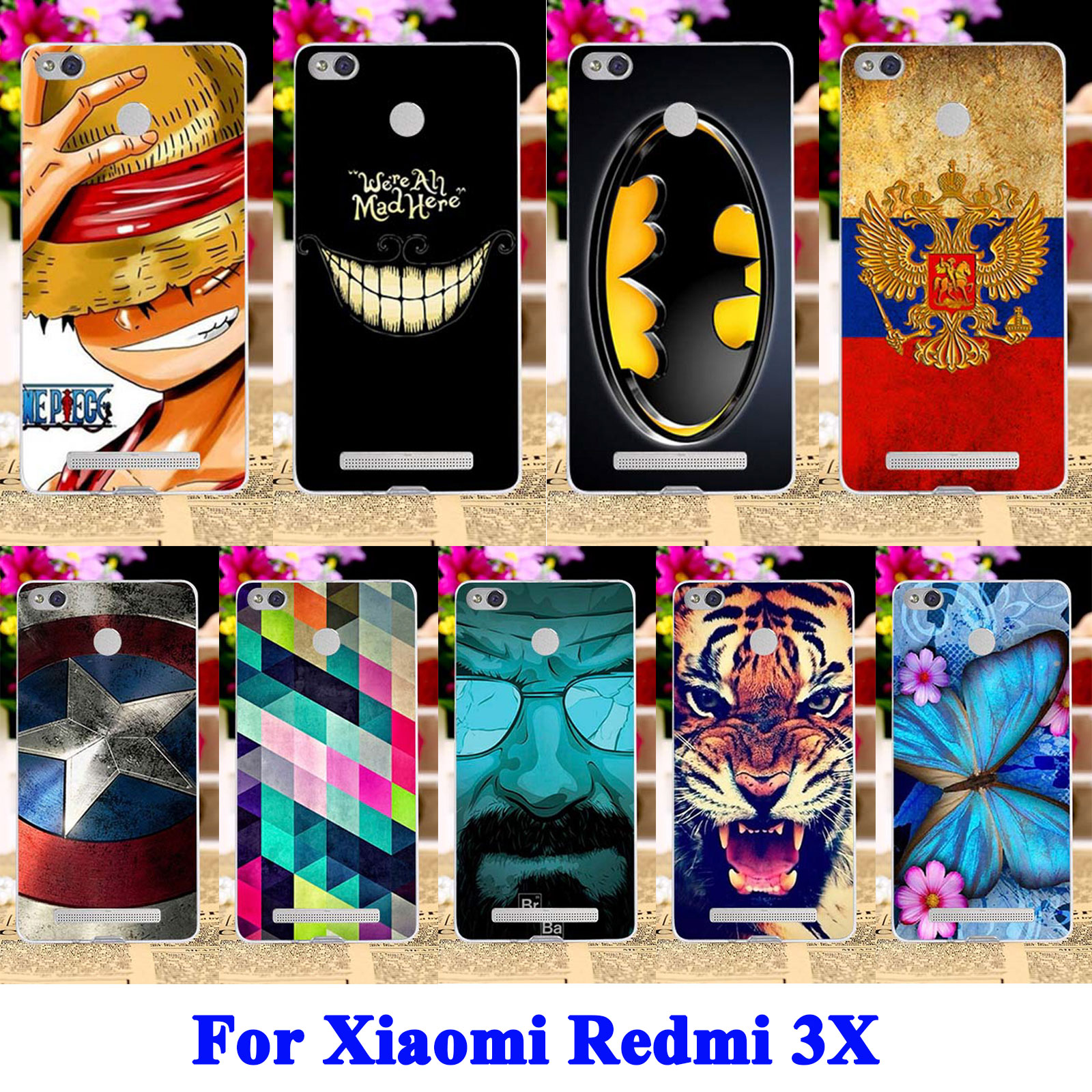 Suave tpu cajas del teléfono celular de plástico duro para xiaomi redmi 3x redmi