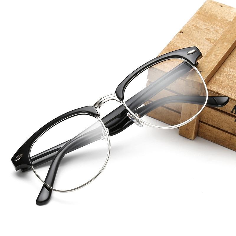 Retro Moda Metal Yarım Çerçeve Gözlük Çerçeve Kadın Erkek - Elbise aksesuarları - Fotoğraf 5