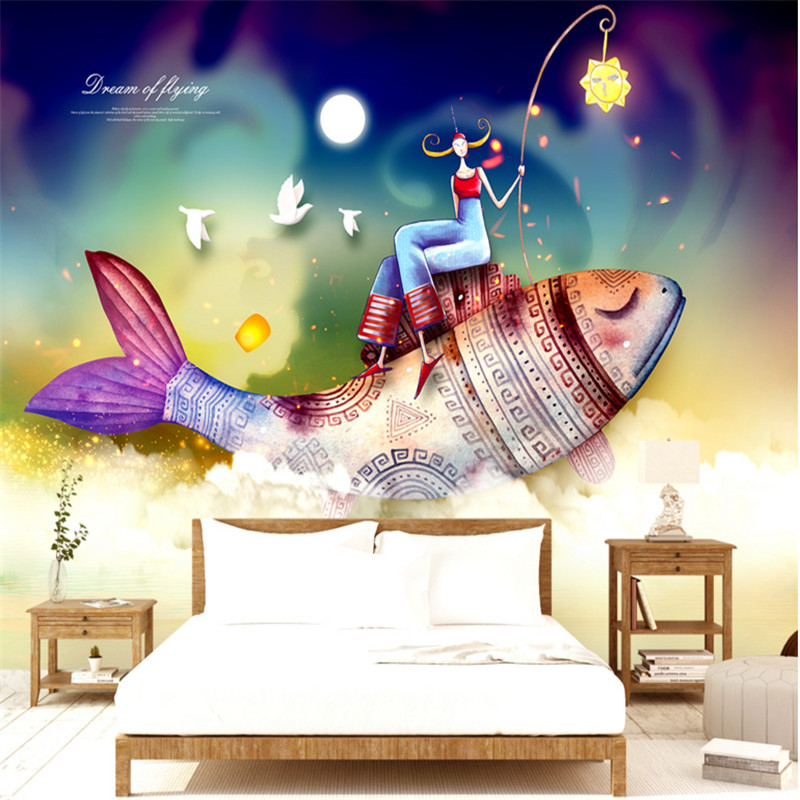 3d custom modern photo wallpaper fashion stereoscopic background wall mural bedroom kids room cartoon fish character wallpaper cartoon animation child room wall mural for kids room boy girl bedroom wallpapers 3d mural wallpaper custom any size