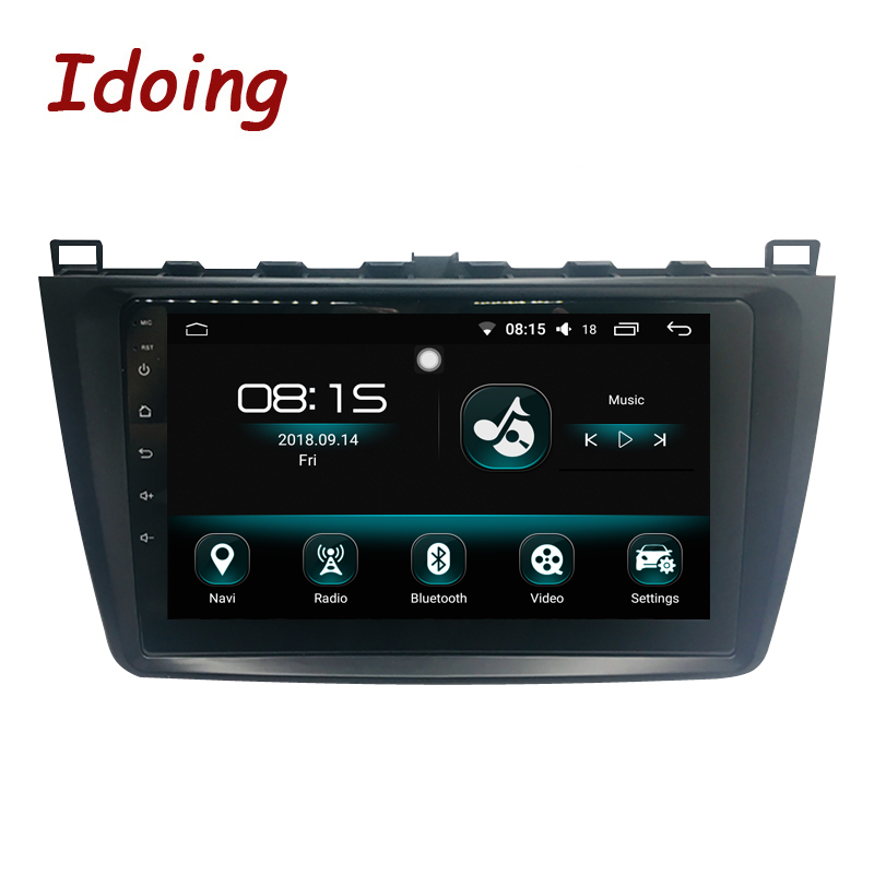 Idoing 1Din Android8.0 Steering-Wheel Car Radio Multimedia Player Fit <font><b>Mazda</b></font> <font><b>6</b></font> <font><b>GPS</b></font> <font><b>Navigation</b></font> 4G+64G Octa Core 1080P Bluetooth image