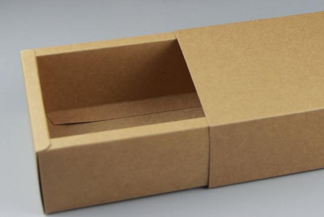 inner size16 9 5cm kraft paper drawer box tea cosmetic gift handmade