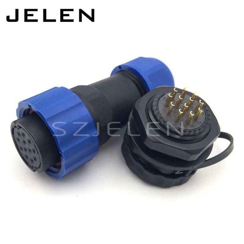 popular socket led wire waterproof buy cheap socket led wire sd20tp zm ip68 waterproof connector 12 pins female plug male