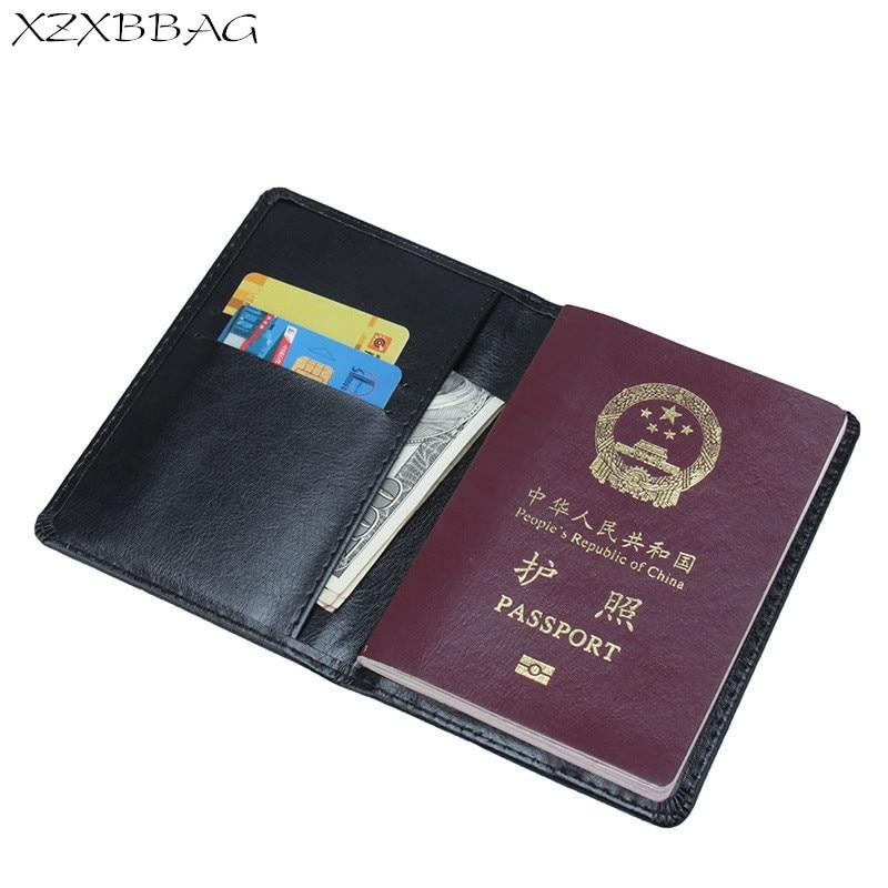 Xzxbbag Russische Pu Leder Reisepass Tasche Unisex Passport Fall Schutzhülle Männer Frauen Pässe Deckt Card Heller Glanz Card & Id Halter