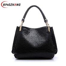Designer Alligator Bags Women Leather Handbags Spanish Brand Luxury Ladies