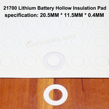 100pcs/lot 21700 Lithium Battery Positive Insulation Gasket Hollow Flat Head Pad Insulation Meson Diameter 20.5*11.5MM 100pcs lot lithium battery positive hollow insulating mat 21700 flat head insulation mat meson paste head gasket 20mm 11 5mm