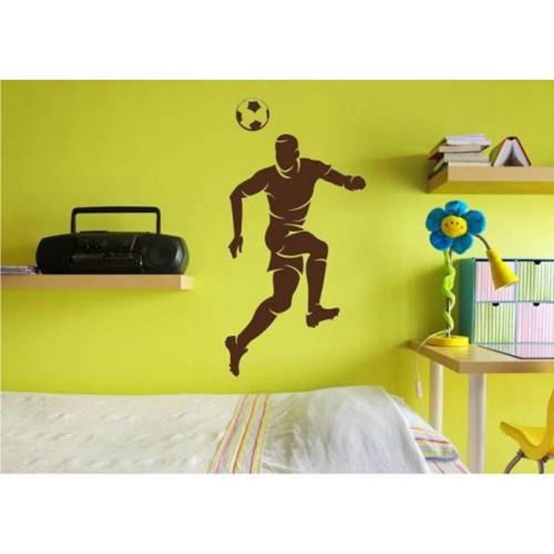 Football Player Sticker Sports Soccer Decal Helmets Kids Room Name Posters Vinyl Wall Decals Parede Decor Mural Football Sticker