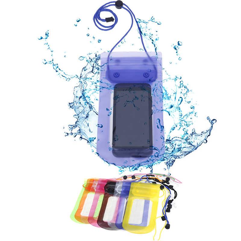 Evrensel su geçirmez telefon kılıfı Seyahat Yüzme Su Geçirmez Çanta Mühürlü Cep Telefonu Çanta Kılıfı Kılıfları Kapak