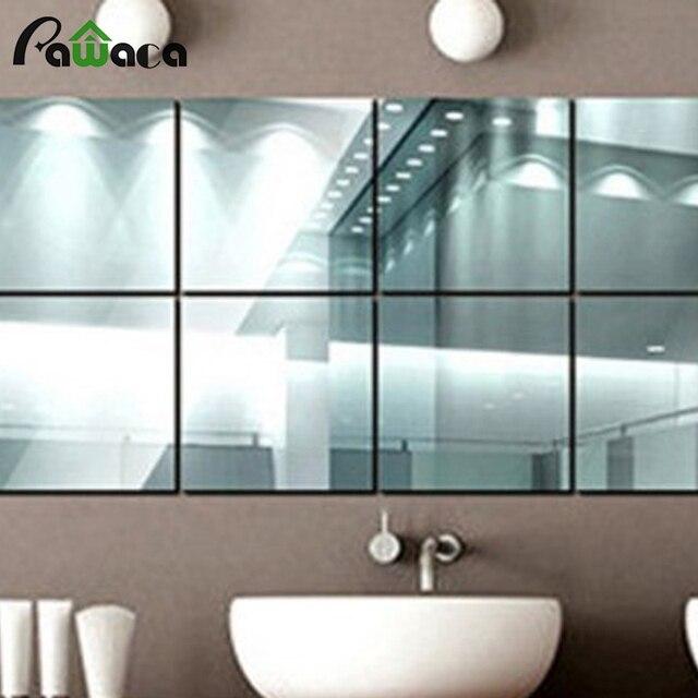 9 pcs/lots dekorasi rumah kotak cermin permukaan wall sticker