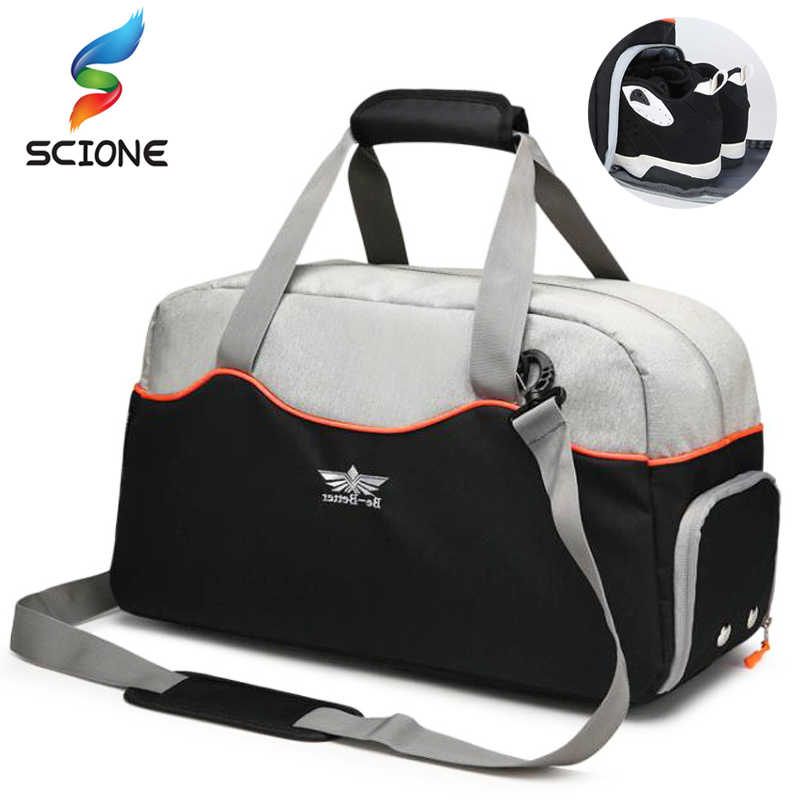 7beab6b17260 Hot Limited Canvas Sports Gym Bags With Shoes Pocket Outdoor Men s Training  Fitness Yoga Shoulder Bag