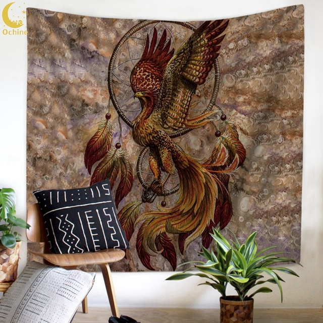 d59cb5a1f670 US $7.64 20% OFF|Dream Catcher Tapestry Lightweight Polyester Fabric  Bohemian Feather Printed Hippie Beach Tapestry For Bedroom Home Decor-in  Tapestry ...