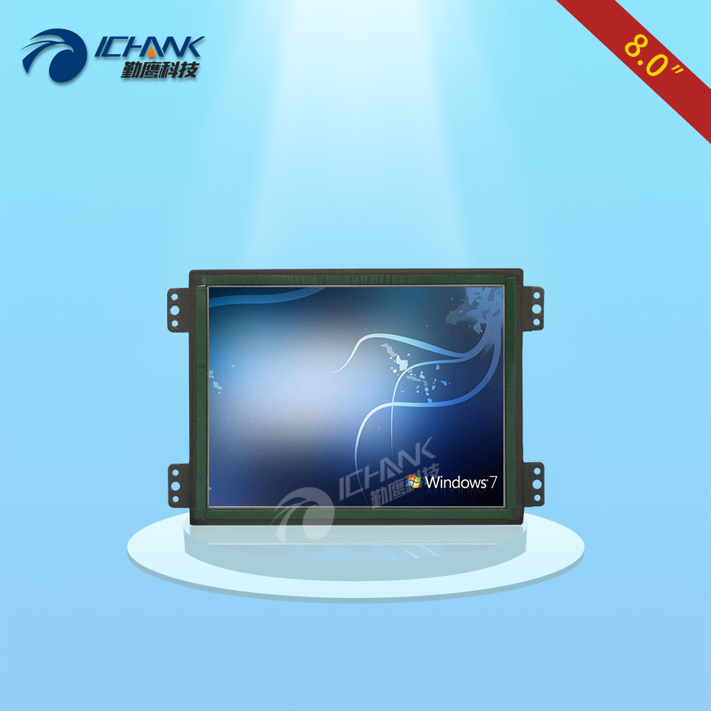 ZK080TN-LR/8 inch 1024x768 BNC VGA HDMI Metal Case Open Embedded Frame Industrial Medical Equipment Monitor LCD Screen Display white 8 inch open frame industrial monitor metal monitor with vga av bnc hdmi monitor