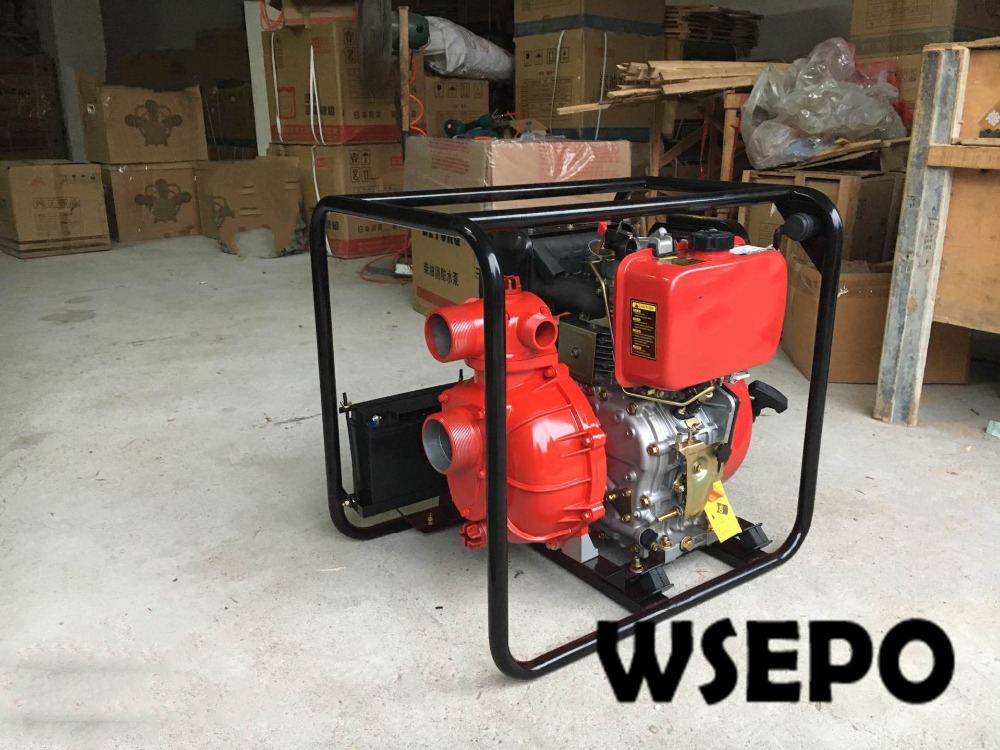 2.5 &1.5Outlet/3 inch Inlet High Pressure Firefighting Pump Powered by 9HP/10HP Diesel Engine with Electric Start Motor vacuum pump inlet filters f007 7 rc3 out diameter of 340mm high is 360mm