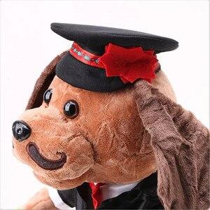 Image 5 - 2018 الكلب الأكورديون الروسي الغناء الرقص الإلكترونية الكلاب الحيوانات الأليفة عمل الشكل دمية محشوة و أفخم لعبة أطفال هدية للأطفال