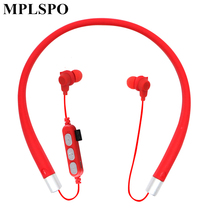 MPLSBO MST10 Neckband Bluetooth Earphone TF card slot MP3 Sport Bass Wireless Headset with Mic Water Resistant Earbuds for phone huan yun wireless bluetooth earphone with tf card slot with mic for phone neckband sport magnetic headphone headset stereo bass