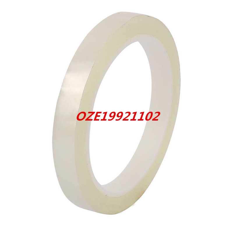 12mm Single Sided Strong Self Adhesive Mylar Tape 50M Length Logo Clear 2pcs 2 5x 1cm single sided self adhesive shockproof sponge foam tape 2m length