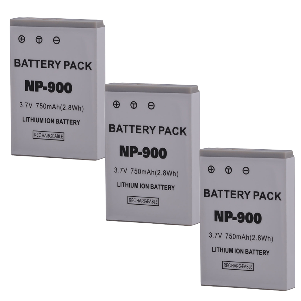 3pcs Li-80b Li 80b Np-900 Np900 Battery For Olympus T-100 X-960 Minolta Np-900 Dimage E40 And For Benq Dc E43,premier Dm-5331 Reliable Performance Power Source