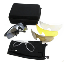 C2 Hiking Glasses Outdoor Sport Motocycle Riding Camping Hunting Tactical Goggles 4 lenses UV400 Protective