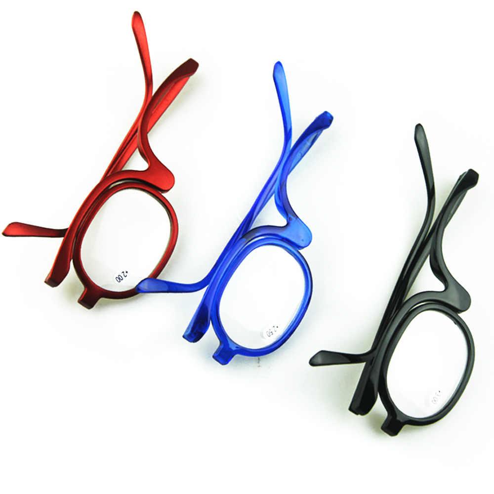 b786963f5c4 ... 2018 Rotating Magnify Eye Makeup Glasses Reading Glasses Women Cosmetic  Presbyopia Eyeglasses Folding Up Eyewear YJ208 ...