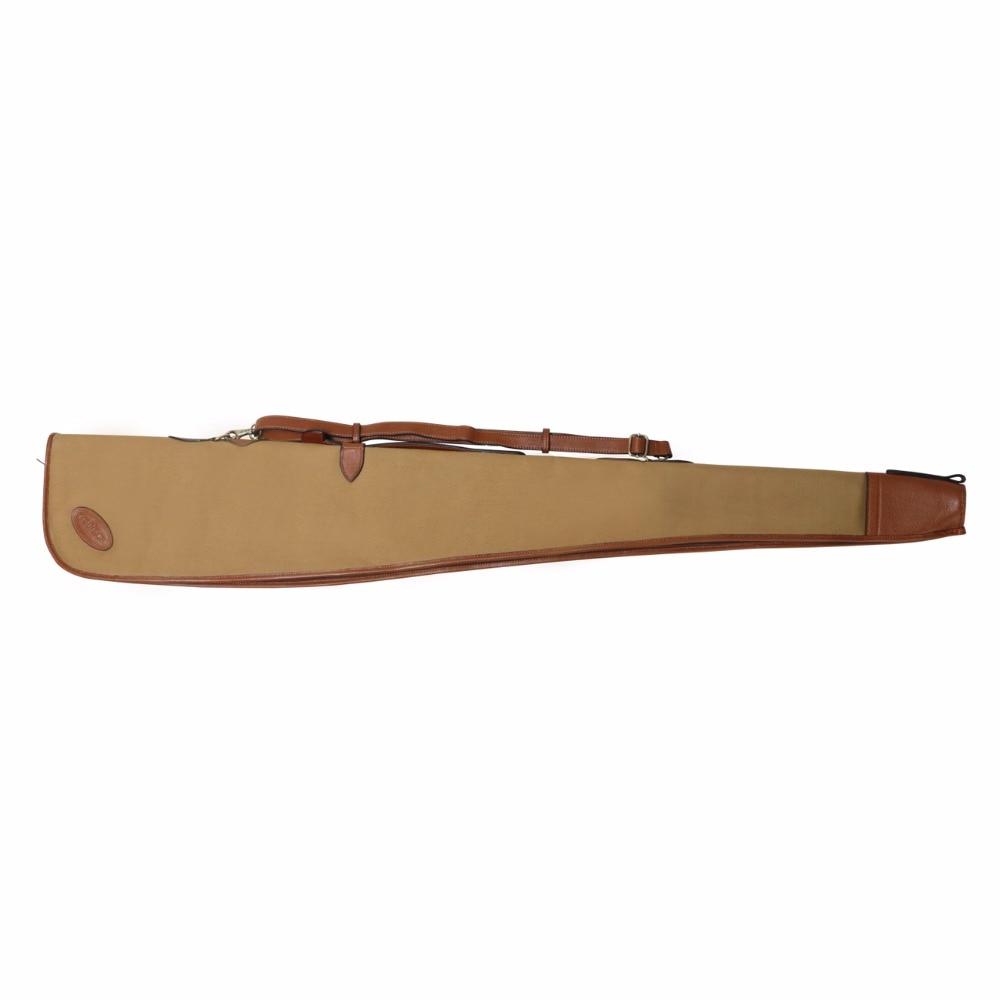 Турбоннан Vintage Hunting Shotgun Құтқару қорғаныс қапшық қорғаныс қапшық Браун Былғары кенепте Былғары тасымалдаушы 134CM күнделікті аксессуарлар