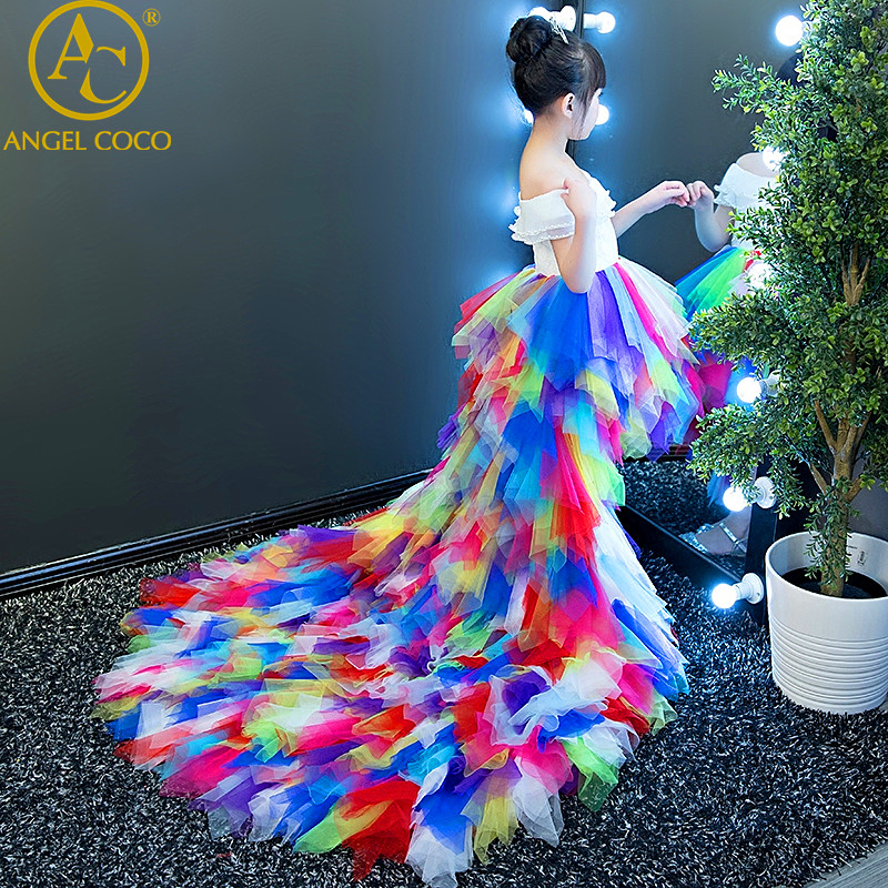 Girl princess dress floral girls dress summer children clothing birthday party baby dress wedding tutu 2-10 Y baby girl clothes 4pcs baby girl clothes swan infant clothing princess tutu dress party baby christmas outfits clothes birthday costumes vestido