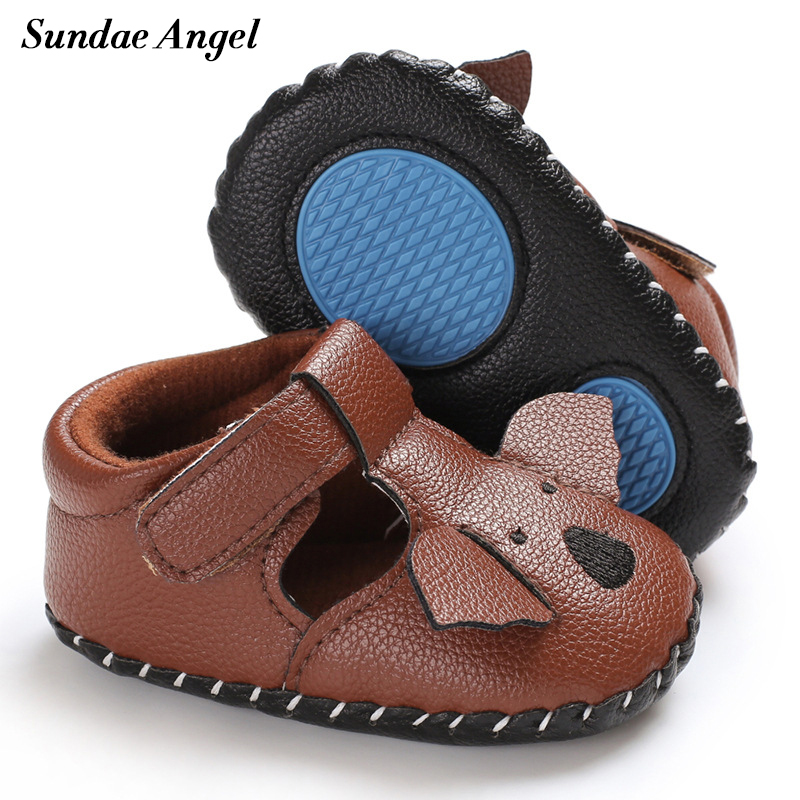 Sundae Angel Baby Shoes First Walker Leather Infant Shoes Pu Breathable Anti-slip Newborn Girls Boy Prewalker