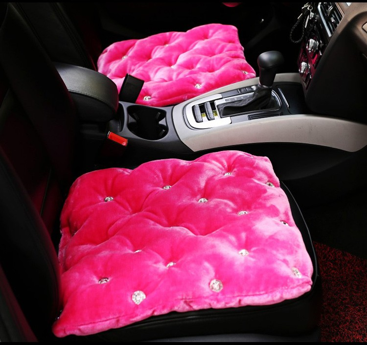 Crystal Studded Rhinestone Car Seat Cushion for Woman Ladies