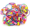 TS 25 pcs High Quality Cartoon Round Ball Kids Elastic Hair bands Elastic Hair Tie Children Rubber Hair Band