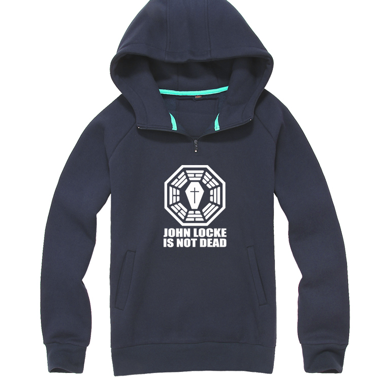 Lost JOHN LOCKE fashion thicken Hoodie hoody Sweatshirts Pullover For Men and Women DHARMA Initiative freeshipping