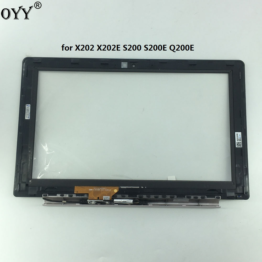 TCP11F16(withEMI) V1.1 touch screen Digitizer with frame border B shell and small board For ASUS X202 X202E S200 S200E Q200E цена