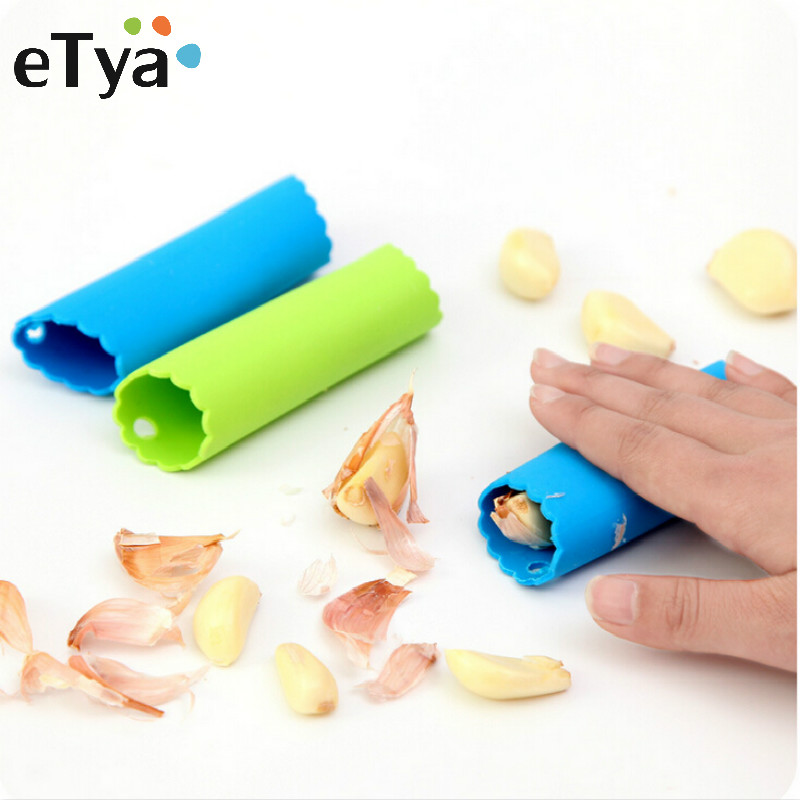 1PC Cheap Hot Sales Magic Silicone Garlic Peeler Peel Easy Kitchen Tools Random Color Drop Shipping
