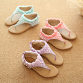 children shoes girls flip flops fashion pearl design princess sandals girls sandals summer breathable kids sandals