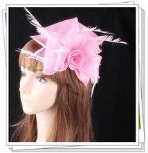 Envío libre niza sombreros fascinators sinamay sombreros mujeres accesorios para el cabello de lujo para la boda nupcial headwear y carreras OF1538