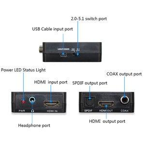 Image 2 - Extracteur Audio HDMI vers HDMI, convertisseur daudio stéréo avec HDMI TOSLINK SPDIF + 3.5mm