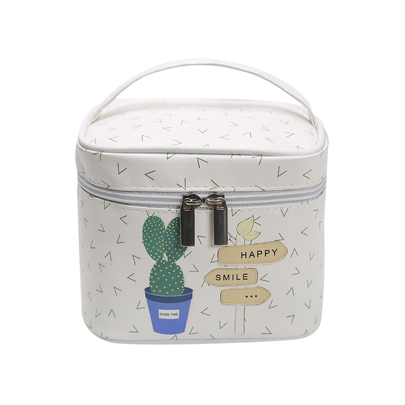 Portable Cactus Cosmetic Bags Multiple Women Girl's Make Up Tools Organizer Boxes Fashion Toiletry Cases Accessories Supplies women make up cases small cosmetic bags child girls boys stationery school supplies