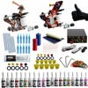 Beginner Tattoo Kits 2 Tattoo Guns Machine 10 Ink Sets Power Supply Needle Pedal Tips Cheap