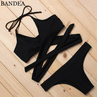 BANDEA Sexy Bikini 2017 Women Swimsuit Sexy Swimwear Female Brazilian Bikini Set Bandeau Summer Beach Swimwear