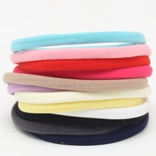 Wholesale 10 pieces of spandex nylon with colorful childrens hair accessories girls ponytail retainer elastic