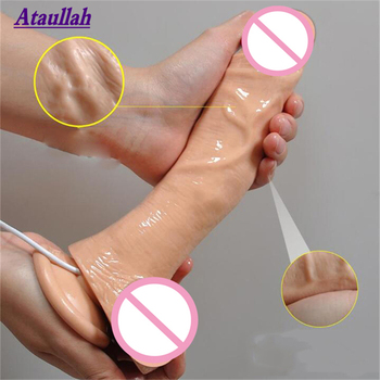 Ataullah 23CM Vibrator Sex Toys for Woman 10 Speeds Big Dildo Realistic Silicone Huge Penis Powerful Adult Toy ST115